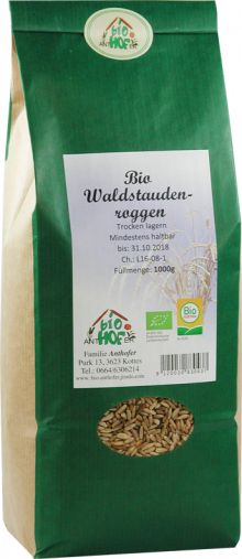 Waldstauden-Roggen - Urgetreide - von Biohof Anthofer