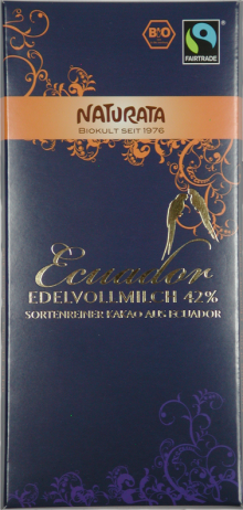 Ecuador Edelvollmilch Bio-Schokolade 42% - 10-Pack - von Naturata