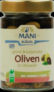 Bio-Oliven grün & schwarz - von Mani