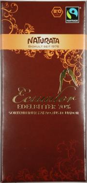 Ecuador Edelbitter Bio-Schokolade 70% - 10-Pack - von Naturata