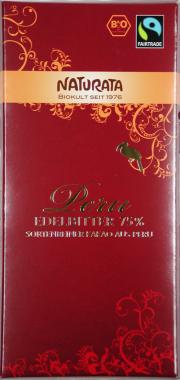 Peru Edelbitter Bio-Schokolade 75% - 10-Pack - von Naturata