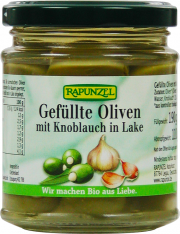 Gefüllte Oliven mit Knoblauch - 6-Pack - von Rapunzel