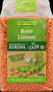 Rote Linsen geschält - 6-Pack - von Rapunzel