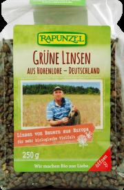 Grüne Linsen aus Hohenlohe - 6-Pack - von Rapunzel